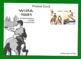 Malta 1981  Mi.Nr. 661/62 , Europa Cept - Folklore - Ganzsache - Maximum Card - Intern.Exhibition - Postfrisch - Europa-CEPT