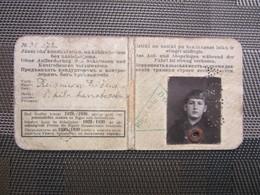 1929 /30 Latvia - Riga -  City Train - Tram  Season Ticket - Abbonamenti