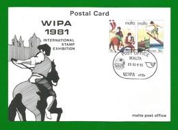 Malta 1981  Mi.Nr. 661/62 , Europa Cept - Folklore - Ganzsache - Maximum Card - Intern.Exhibition - Gestempelt - Europa-CEPT