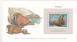 1977 REPUBLIC OF EQUATORIAL GUINEA / MORSE / WALRUS / Stamp Denomination : 2 - Mammifères Marins