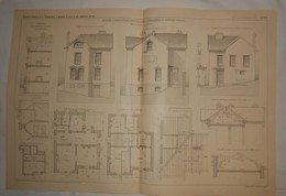 Plan De Maison D'habitation Particulière à Neauphle Le Château En Seine Et Oise. 1908 - Opere Pubbliche