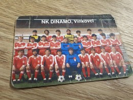 Old Pocket Calendars - Soccer, Croatia, NK Dinamo Vinkovci 1987 - Calendars