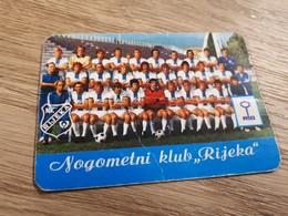 Old Pocket Calendars - Soccer, Croatia, NK Rijeka 1976 - Calendars