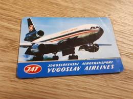 Old Pocket Calendars - Airplanes, Yugoslavia, JAT - Calendars