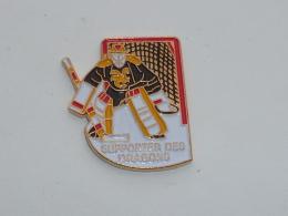 Pin's HOCKEY SUR GLACE, SUPPORTER DES DRAGONS DE ROUEN - Winter Sports