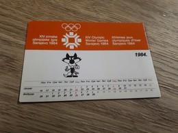Old Pocket Calendars - Olympic Games 1984 Sarajevo, Vučko - Calendars