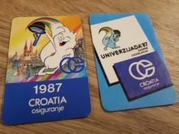 Old Pocket Calendars - Universiade 1987, Croatia, Zagreb - Calendars