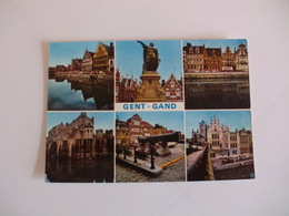 Postcard Postal Belgium Gent Several Views - Gent