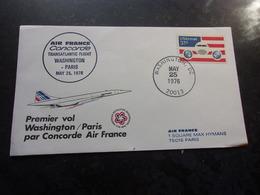 AVIATION  CONCORDE Vol Washington-paris - Airplanes