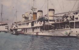 CARTE PHOTO DOS BLANC / BATEAU A IDENTIFIER - Ships