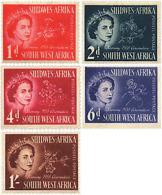 Ref. 238977 * HINGED *  - SOUTH WEST AFRICA . 1953. REGIONAL FLOWERS. FLORES REGIONALES - Stamps