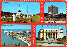 MANILA SOUVENIR - Rizal Park - Manila Hilton Hotel - Manila South Harbor - Dept. Of Tourism Bldg. - Filippine