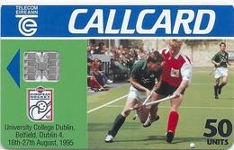 Ireland - Eircom - Nissan European Hockey '95 - 50Units, 08.1995, 50.000ex, Used - Ireland