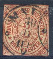 Germania Norddeutscher 1868 UN N. 9 Kr 3 Carminio Usato Cat. € 2 - Norddeutscher Postbezirk
