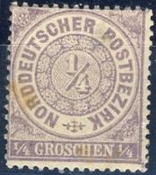 Germania Norddeutscher 1869 UN N. 12 G. 1 E 1/4, Violetto M Cat. € 37,5 - Norddeutscher Postbezirk
