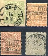 Germania Norddeutscher 1869 UN N. 13 - 16 Insieme Usati Cat. € 14 - Norddeutscher Postbezirk