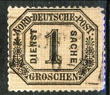 Germania Norddeutscher 1870 UN N. 4 G. 1 Nero Su Bistro Usato Cat. € 3 - Norddeutscher Postbezirk