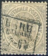 Germania Norddeutscher 1870 UN N. 9 K. 7 Nero E Grigio Usato Cat. € 22 - Norddeutscher Postbezirk