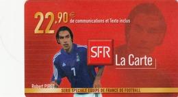 FRANCE - Equipe De France: Robert Pires, SFR Card , 22.90 € , Used - Frankreich