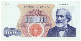1000 LIRE GIUSEPPE VERDI I TIPO MEDUSA 20/05/1966 SPL- - [ 2] 1946-… : Républic