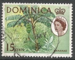 Dominica. 1963-65 QEII. 15c Used. Upright Block CA W/M SG 172 - Dominica (...-1978)