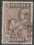 Kedah (Malaysia). 1959-62 Sultan Abdul Halim Shah. 10c Deep Maroon Used. SG 109a - Kedah