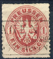 Germania Prussia 1861 UN N. 17 S. 1 Rosa Usato Su Frammento Cat. € 2 - Preussen