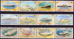 TRISTAN DA CUNHA 1994 SG #553-64 Compl.set Used Ships - Tristan Da Cunha