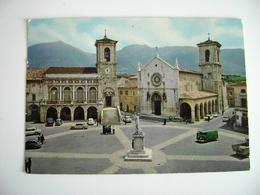 Norcia Piazza S.Benedetto    PERUGIA UMBRIA  VIAGGIATA COME DA FOTO - Perugia