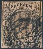 Germania Sachsen 1855 UN N. 8 N. 1 Rosa Usato Cat. € 5 - Sachsen