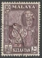 Kelantan (Malaysia). 1961-63 Sultan Yahya Petra. 10c Used. SG 101 - Kelantan