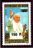 Bénin 1993  (Pape Jean-Paul II -  150F/190F ) ** Luxe  -  RARE - Benin – Dahomey (1960-...)