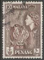 Penang (Malaysia). 1957 QEII. 10c Used. SG 49 - Penang