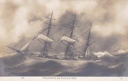 TROIS-MATS EN PLEINE MER - Sailing Vessels