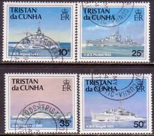 TRISTAN DA CUNHA 1994 SG #565-68 Compl.set Used Ships Of The Royal Navy (3rd Series) - Tristan Da Cunha