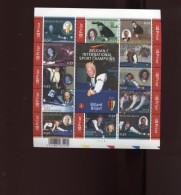 Belgie Blok Feuillet BL128 Biljart Billard Billiards Ceulemans PLAATNUMMER 1  Onder Postprijs Sous Faciale !!! - Blocks & Sheetlets 1962-....