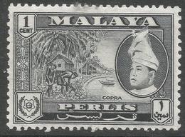 Perlis (Malaysia). 1957-61 Raja Syed Putra. 1c MH. SG 29 - Perlis