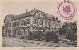 "HERTEN :  Verwaltungsgebaüde Der Zeche ""Ewald"". + Cachet De Gare. - Non Classificati"