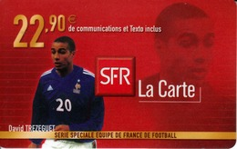 FRANCE - Equipe De France: David Trezeguet, SFR Card , 22.90 € , Used - Frankreich