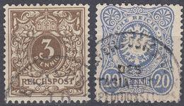 ALLEMAGNE - GERMANY - Lotto Due Valori: Yvert 39 E 45 Obliterati Con Timbro Di Costantinopoli/Levante. - Used Stamps