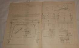 Plan Du Chemin De Fer Métropolitain De Paris. Viaduc D'Austerlitz. 1908 - Travaux Publics