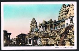 CAMBODGE - ANGKOR- VAT -  Façade 2° Etage - Scans Recto Verso  -  - Paypal Free - Cambodia