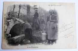 CPA Précurseur 1903 Le Lot Illustré Porteuse D'eau à La Fontaine éditeur Cahors Cliché Deland'Huy - Cahors