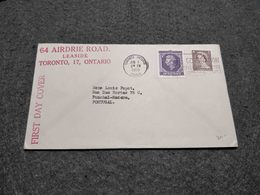 CANADA FDC CORONATION ELIZABETH II  MECHANICAL CANCEL  CIRCULATED TORONTO CANCEL 1953 - Premiers Jours (FDC)