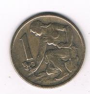 1 KORUN 1962  TSJECHOSLOWAKIJE /2096G// - Czechoslovakia