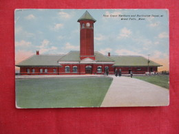 New Great Northern & Burlington Depot - Montana > Great Falls -ref 2922 - Great Falls