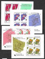 #B5 # KOREA  MICHEL BL 522/523+525/526 MNH**. SPORT, OLYMPIC GAMES, SEOUL. - Korea, South