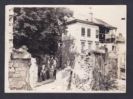 Photo Originale Ancienne 18x13 Reims Rue Du Cardinal De Lorraine Maison Bombardée Civils Militaires Guerre - Lieux