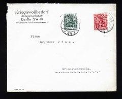 A5376) DR Brief Berlin 4.12.16 Mit Perfin KWB - Deutschland
