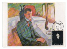 GF Carte Maximum 085, Norge Norvege 1965, Edvard Munch - Arts